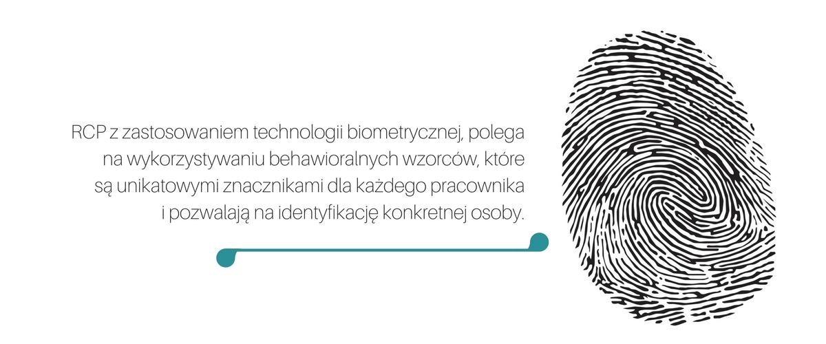 rejestracja czasu pracy za pomocą technologii biometrycznej