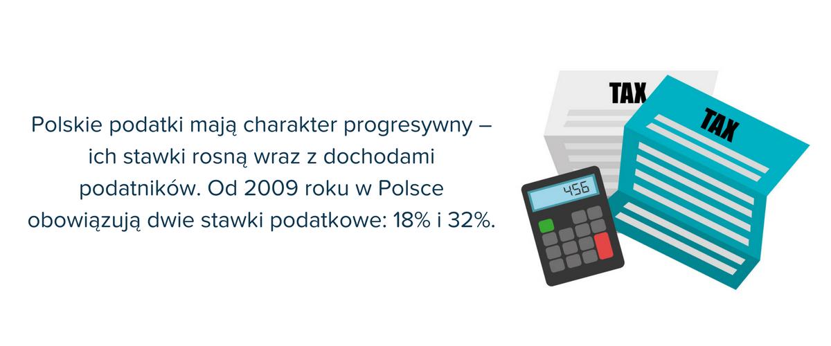 Od 2009 roku w Polsce obowiązują dwie stawki podatkowe: 18% i 32%