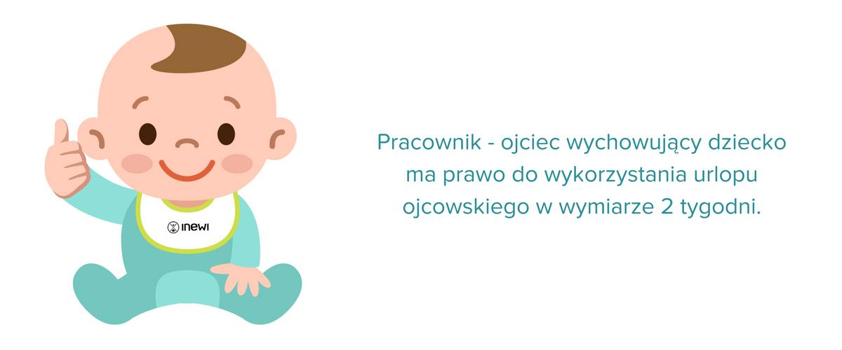 pracownik ojciec wychowujący dziecko ma prawo do 2 tygodni urlopu ojcowskiego