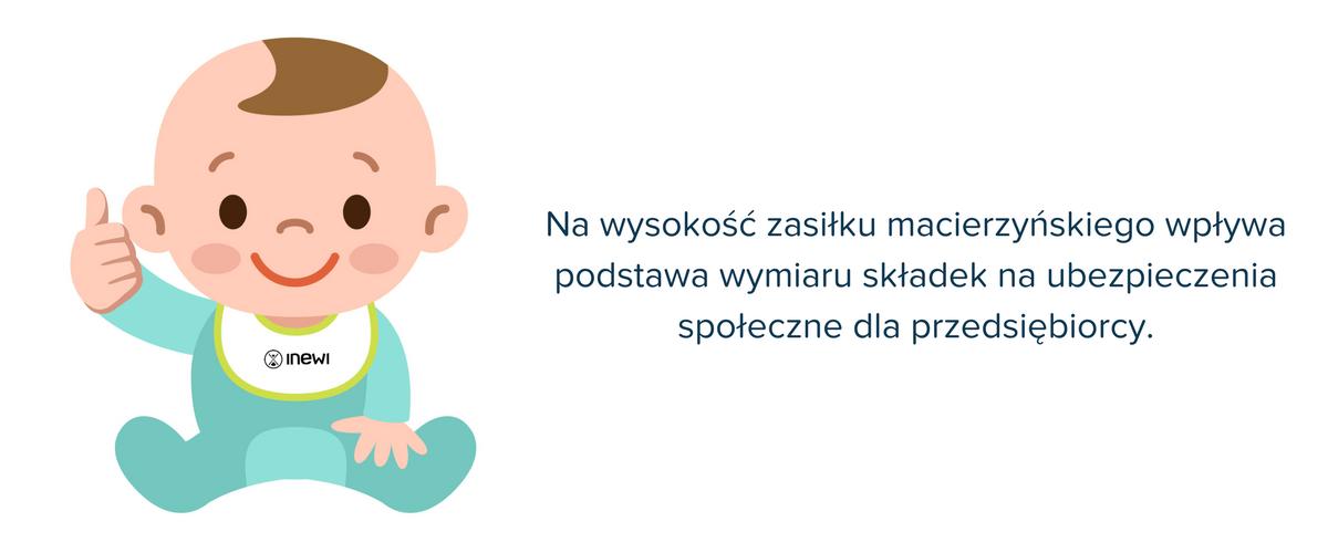 podstawę wymiaru zasiłku macierzyńskiego stanowią składki na ubezpieczenia społeczne