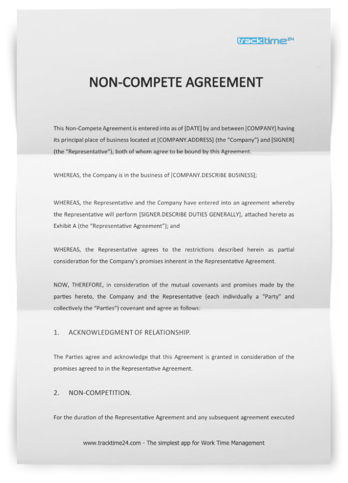 non compete agreement form free download